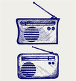 Old radio receiver vector image vector image