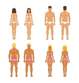 young woman and guy in underwear Body templates vector image