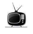 tv antique black vector image