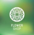 Florist emblem vector image vector image