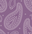 violet paisely pattern vector image