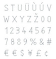 blurred typeset vector image