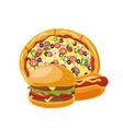 burgerpizza hot dog vector image
