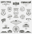 Carnival badges logos and labels for any use vector image