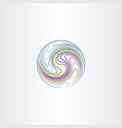 colorful lines globe world earth abstract icon vector image