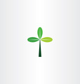 green cross tree leaf eco icon vector image