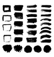 ink black art brushes set dirty grunge vector image