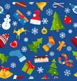 seamless pattern of christmas symbols vector image