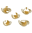 Set of tea icons and symbols vector image