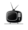 tv antique black vector image