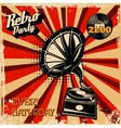 Retro party vintage poster template Design vector image