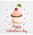 Greeting card Valentines Day Series with sweets vector image