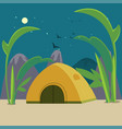 colorful camping background vector image vector image