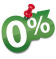 Zero percent sticker vector image vector image