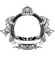 decorative crown vector image vector image