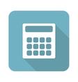 Square calculator icon vector image