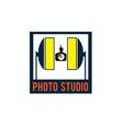 photo studio design template vector image