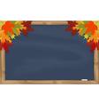 Maple leaves on grey chalkboard vector image