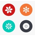 modern flower colorful icons set vector image