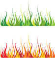 grass and fire vector image