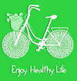 Background with eco bicycle vector image