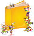 clowns on book vector image