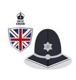 police hat icon United kingdom design vector image