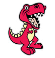 cute cartoon t rex dinosaur vector image