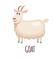 Cute goat in flat style vector image