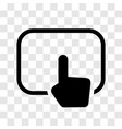 hand touching pad icon - iconic design vector image