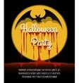 Happy Halloween Poster with Bat vector image