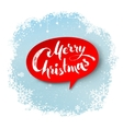 Merry Christmas hand written letters vector image