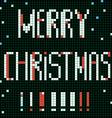 pixel merry christmas vector image