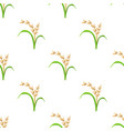 rice plant vegetarian food seamless pattern vector image