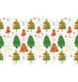 seamless border of christmas tree vector image