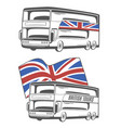 tourist bus with union jack vector image