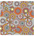 Floral background made of many doodle flowers vector image
