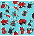Colored oil industry pattern vector image