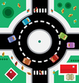 Top View Roundabout vector image