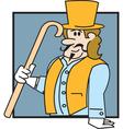 Victorian man vector image vector image