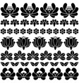 seamless hungarian black folk art pattern - floral vector image