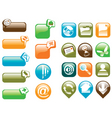 buttons glass vector image vector image