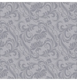 Gray baroque pattern vector image