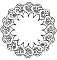 Indian henna tattoo inspired heart shapes wreath 3 vector image
