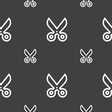 scissors icon sign Seamless pattern on a gray vector image