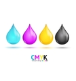 CMYK Glossy Paint Drops vector image