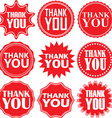 Thank you red label Thank you red sign Thank you vector image vector image