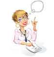 Businesswoman Thought bubble vector image