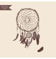 Dreamcatcher Hand drawn Vintage vector image