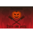 Halloween party invitation Holiday card flyer vector image